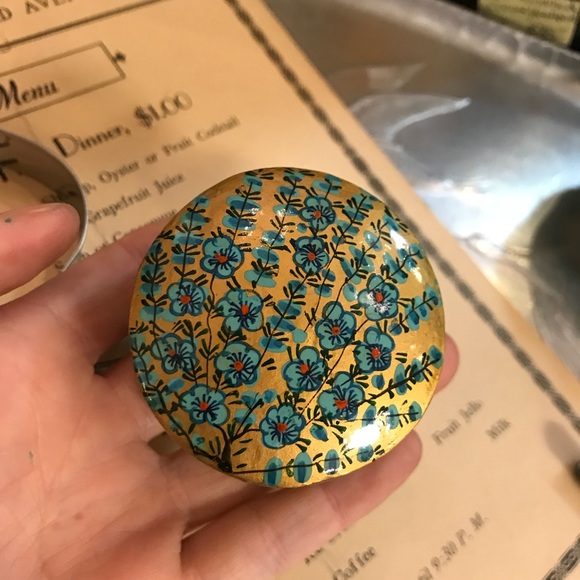 Little Russian Handpainted Jewelry Ring Box